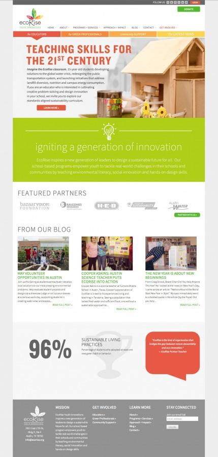 EcoRise Homepage