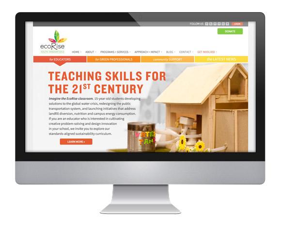 EcoRise Website Homepage